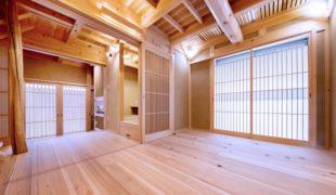 天然乾燥、自然素材、土、木、石、竹、紙、熟練大工伝統工法、石場建て健康住宅、9,09